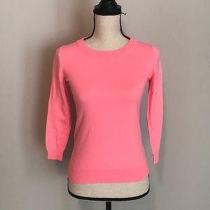 Hot pink jcrew sweater